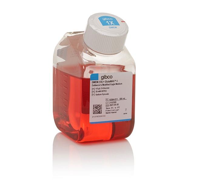Gibco™DMEM, high glucose, GlutaMAX™ Supplement, HEPES Mammalian cell culture; 500mL Gibco™DMEM, high glucose, GlutaMAX™ Supplement, HEPES