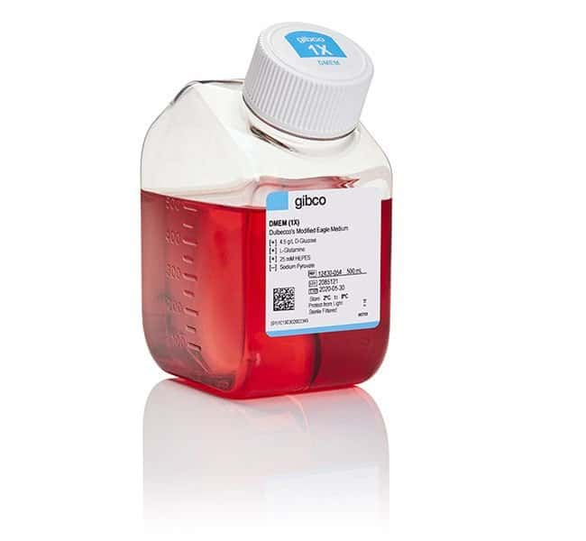 GibcoDMEM, high glucose, HEPES Mammalian cell culture; 500mL:Cell Culture