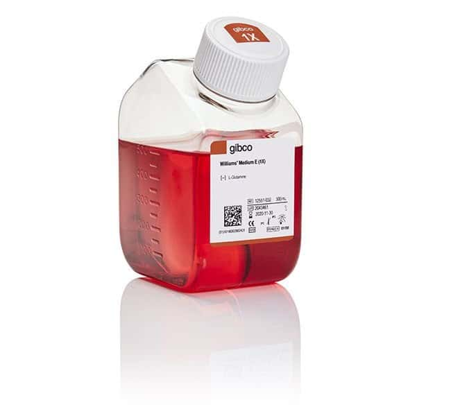 Gibco™William's E Medium, no glutamine 500mL Products