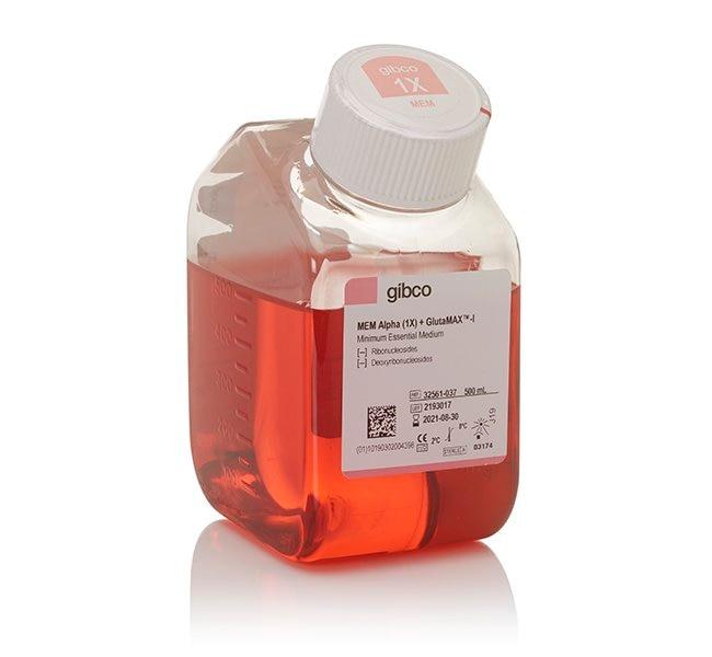 Gibco™MEM α, GlutaMAX™ Supplement, no nucleosides 500mL Gibco™MEM α, GlutaMAX™ Supplement, no nucleosides