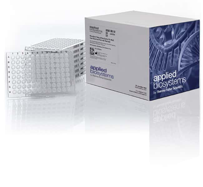 Applied Biosystems™MicroAmp™ EnduraPlate™ optische, schnelle, transparente 96-Well GPLE_Reaktionsmikrotiterplatten, mit Barcode 20 Platten 096-Well PCR-Platten