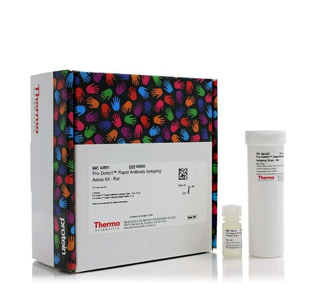 Thermo Scientific™ Pro-Detect™ Rapid Antibody Isotyping Assay Kit IgG1, IgG2a, IgG2b; IgG2c Thermo Scientific™ Pro-Detect™ Rapid Antibody Isotyping Assay Kit