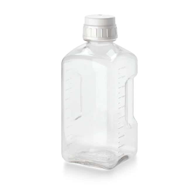 Thermo Scientific™ Nalgene™ Square PETG Media Bottles with Closure: Bottles Bottles, Jars and Jugs