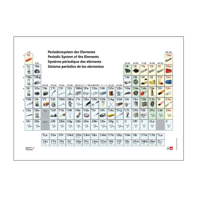 3B Scientific Periodic Table of the Elements, with Pictures of Elements
