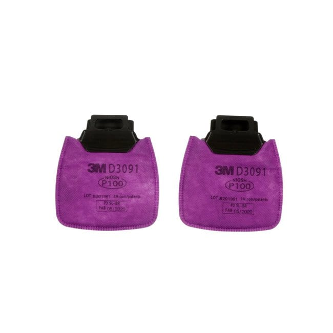 3M Secure Click Nuisance Level Cartridges and Filters Magenta, P100, D3091:Gloves,