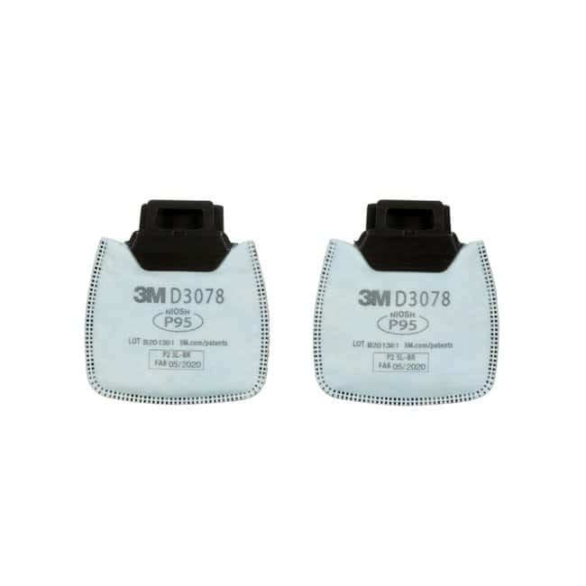 3M Secure Click Nuisance Level Cartridges and Filters White, P95, D3078:Gloves,