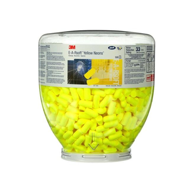 3M E-A-Rsoft Yellow Neons One Touch Dispenser Refill::