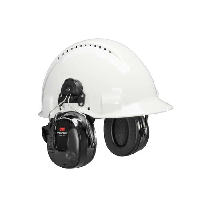 3M PELTOR ProTac III Headset Hearing Protector Hard Hat Attached:Gloves,