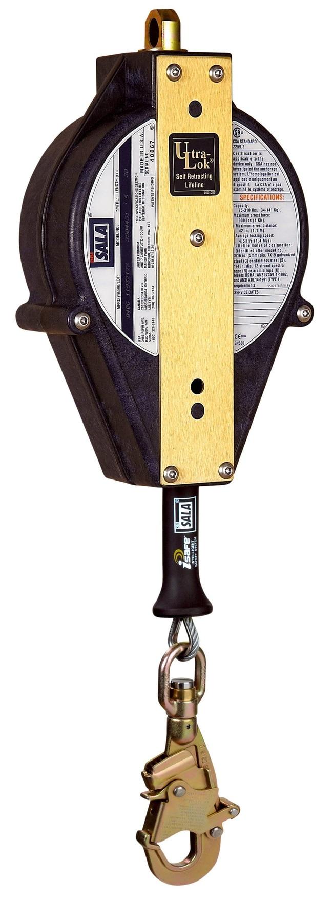 3M DBI-SALA Ultra-Lok Self Retracting Lifeline- Cable:Gloves, Glasses and