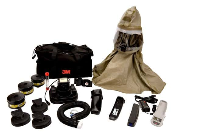 3M Breathe Easy Complete PAPR Assembly Quantity: 1:Gloves, Glasses and