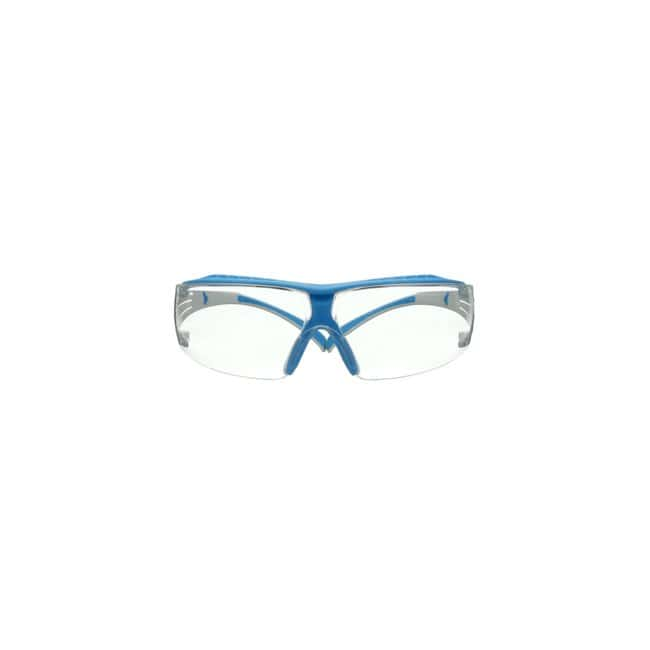 3M SecureFit 400 Series Safety Glasses Frame Color: Light Blue and White:Gloves,