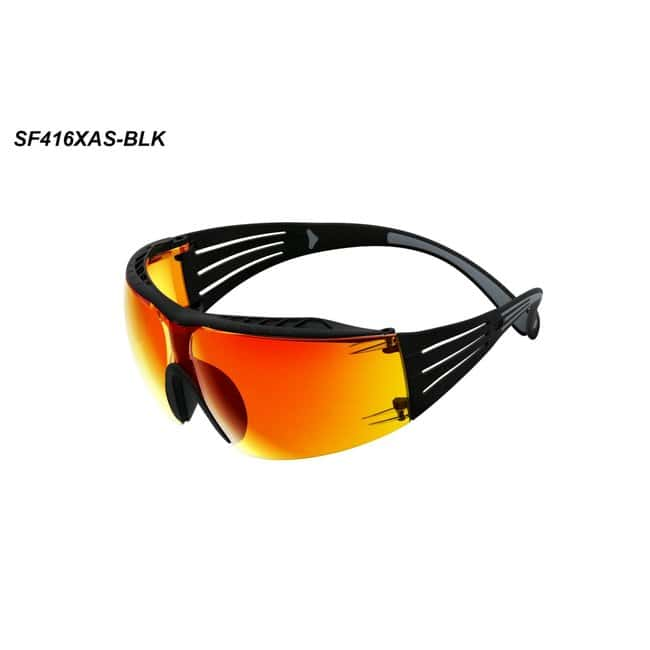 3M SecureFit 400 Series Safety Glasses Frame Color: Black and Gray:Gloves,