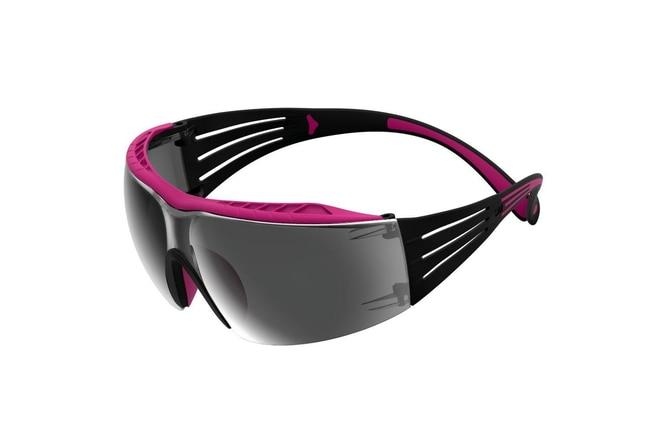 3M SecureFit 400 Series Safety Glasses Frame Color: Pink and Black:Gloves,
