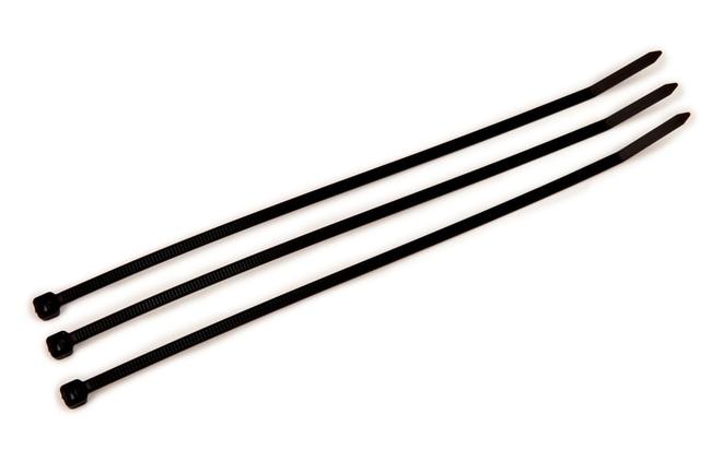 3M Cable Ties (40lb, 180N) UL Listed TYPE 21 Black; Intermediate; UV resistant:Gloves,