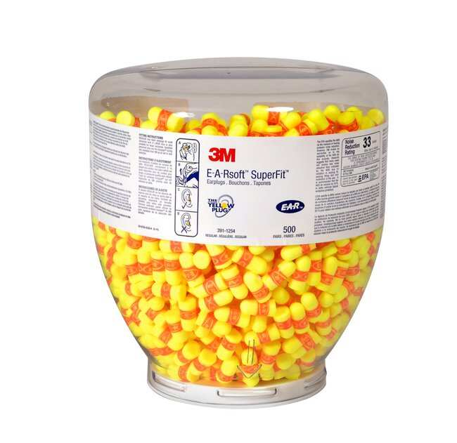 3M E-A-R Classic SuperFit 30 One Touch Earplugs Refill (for One Touch Dispenser)