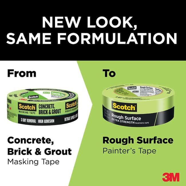 3M Scotch Masking Tape for Hard-to-Stick Surfaces 36/case:Gloves, Glasses