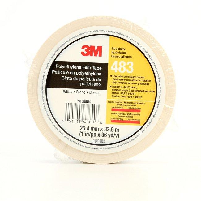 3M Polyethylene Tape White:Gloves, Glasses and Safety