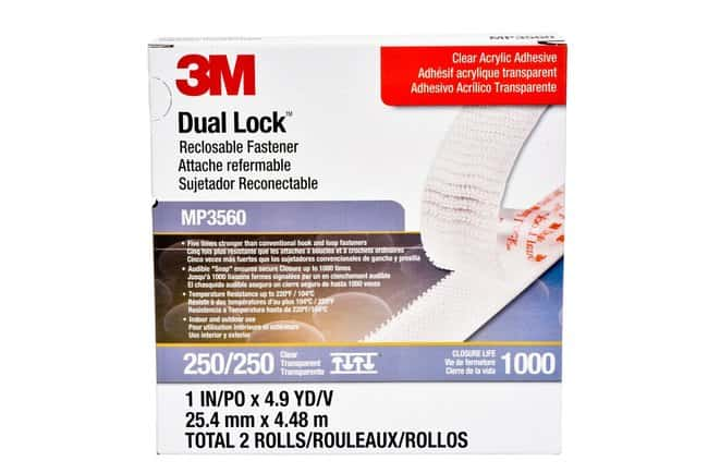 3M Dual Lock Reclosable Fastener Clear; Clear Acrylic:Gloves, Glasses and