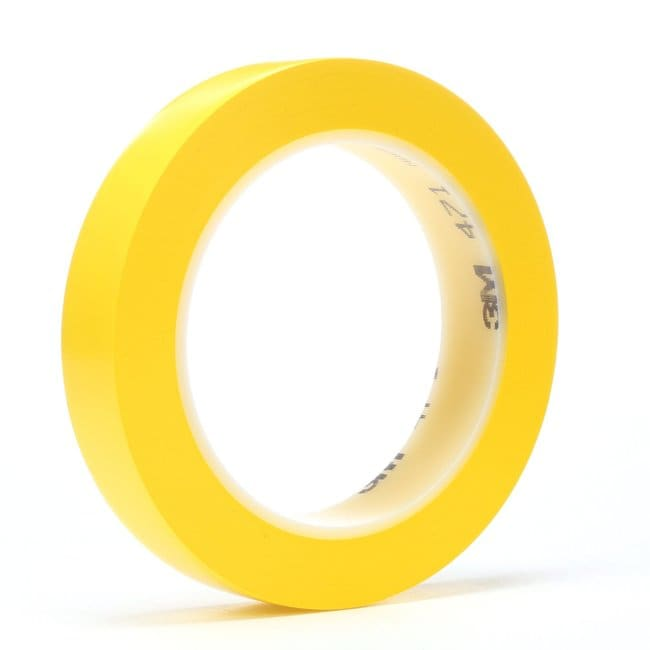 3M Vinyl Tape Yellow, 1/2 in x 36 yd:Gloves, Glasses and Safety