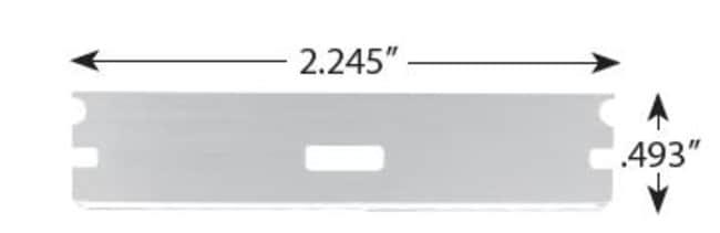 AccuTec BladesSingle Edge Long Blades:Facility Safety and Maintenance:Hand