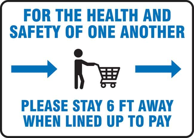 AccuformSafety Sign - FOR THE HEALTH AND SAFETY OF ONE ANOTHER PLEASE (Human