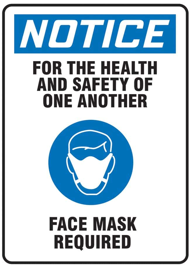 AccuformSafety Sign - NOTICE FOR THE HEALTH AND SAFETY OF ONE ANOTHER FACE