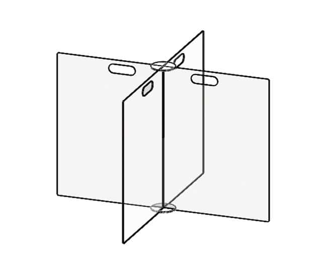 Accuform Accu-Shield SG Clear Barrier Panels 4-Way Table Divider 36 in.