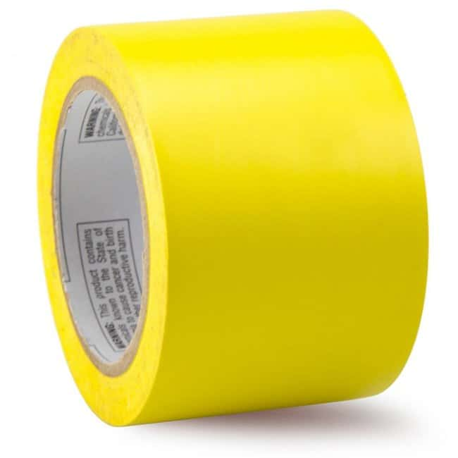 Accuform Signs Inventory and Floor Marking Tape Yellow, 3in. x 180ft.:Gloves,