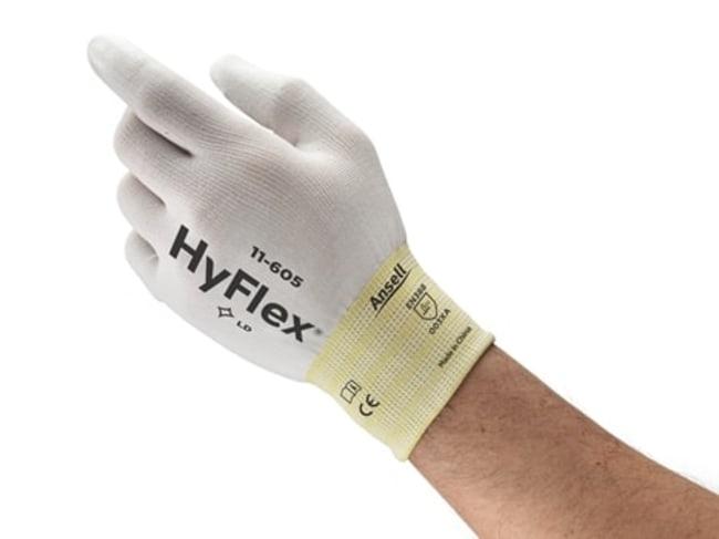 AnsellGants légers en polyuréthane blanc série11-605 HyFlex™ Revêtement au niveau des bouts de doigts: taille: 7 voir les résultats