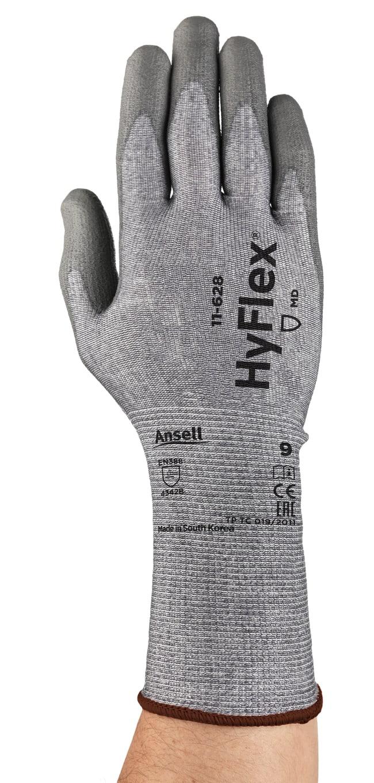 Ansell Edmont™Guantes con puño de muñeca tejido largos de resistencia media HyFlex™ Size: 9 Ansell Edmont™Guantes con puño de muñeca tejido largos de resistencia media HyFlex™