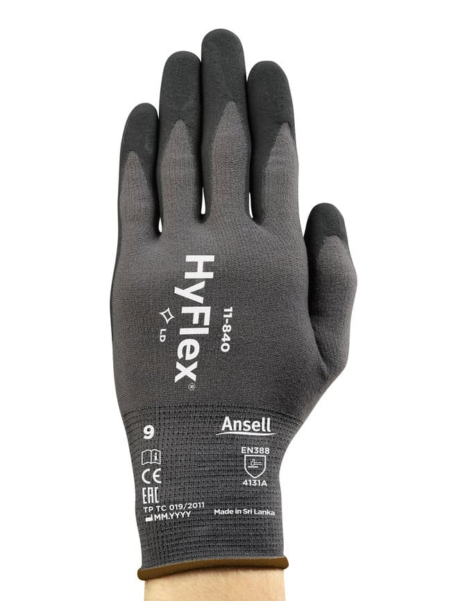 Ansell Edmont™ Hyflex™ 11-840 Series Light Duty Foam Nitrile Gloves