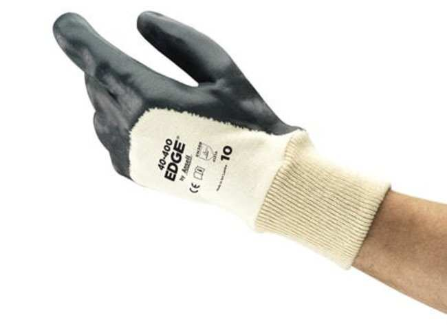 AnsellEDGE™ 40-400 Medium-Duty Cotton Gloves with Porous Foam Nitrile Coating Palma revestida; puño; talla: M (8) AnsellEDGE™ 40-400 Medium-Duty Cotton Gloves with Porous Foam Nitrile Coating
