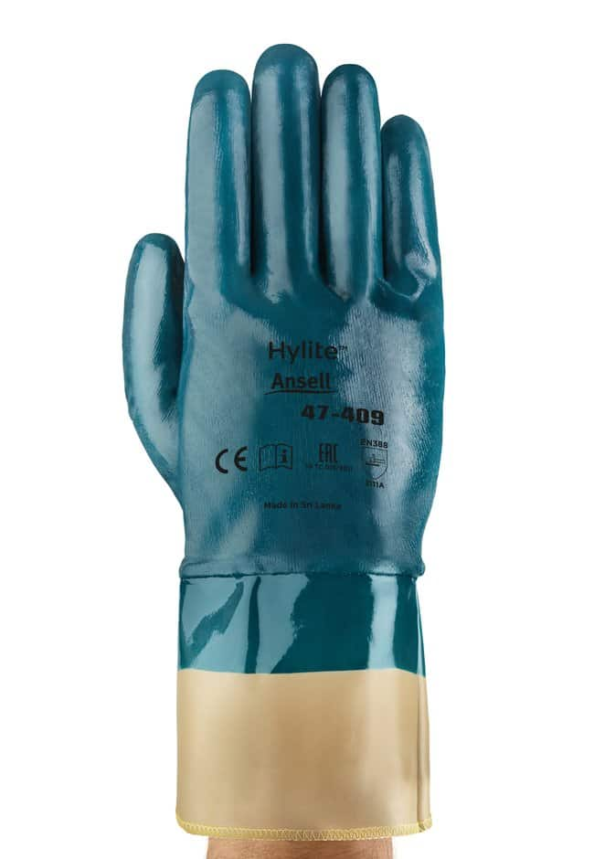 Ansell Edmont™ Hylite™ 47-409 Series Blue Nitrile Medium Weight Gloves Size: 7 Ansell Edmont™ Hylite™ 47-409 Series Blue Nitrile Medium Weight Gloves