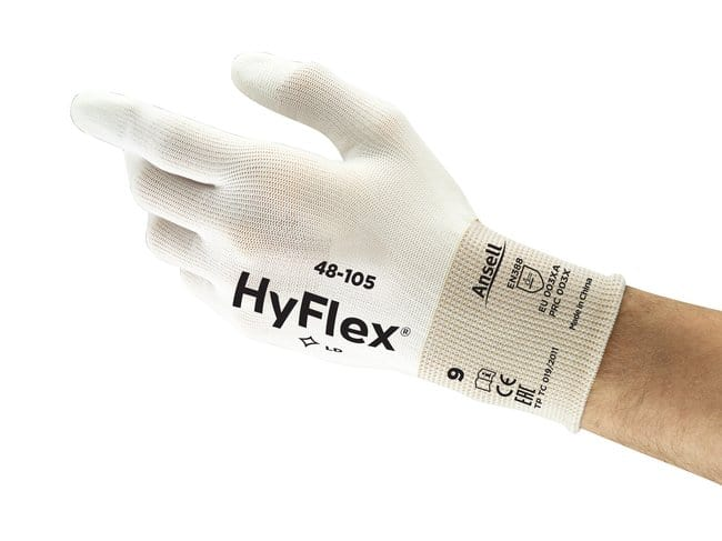 Ansell Edmont™ HyFlex™ 48-105 Series White Polyurethane Light Weight Gloves Size 7 Products