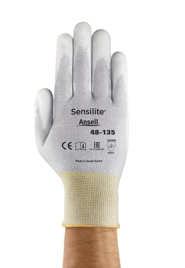 Ansell Edmont™ Sensilite™ 48-135 Series White and Gray Polyurethane Light Weight Gloves Size: 7 Products