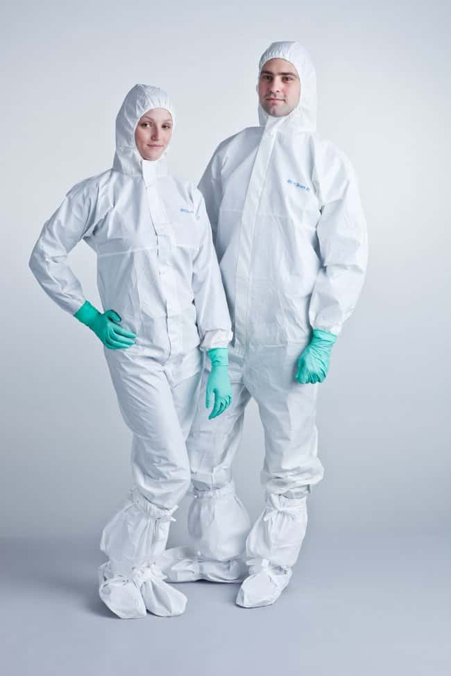 Ansell BioClean-D Coverall with Hood Size: L:Gloves, Glasses and Safety
