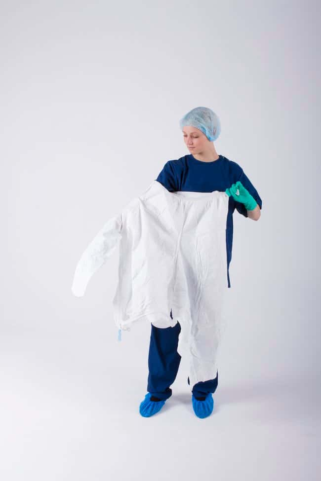 Ansell BioClean-D Drop-Down Garment with Hood Size: XXXL:Gloves, Glasses