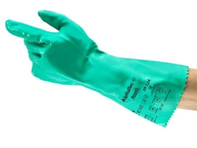 AnsellAlphaTec™ 39-124 Interlock Cotton Lined Nitrile Gloves Length: 14 in. (35.6cm); Size: 9 Products
