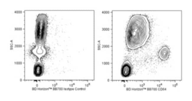CD64 Mouse anti-Human, BB700, Clone: 10.1, BD Horizon Hu CD64 BB700 10.1