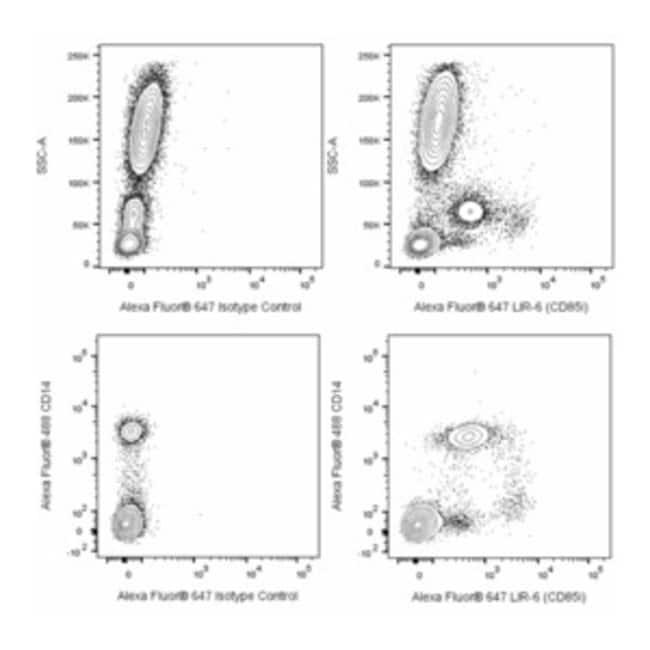 LIR-6 (CD85i) Mouse anti-Human, Alexa Fluor 647, Clone: 586326, BD Pharmingen