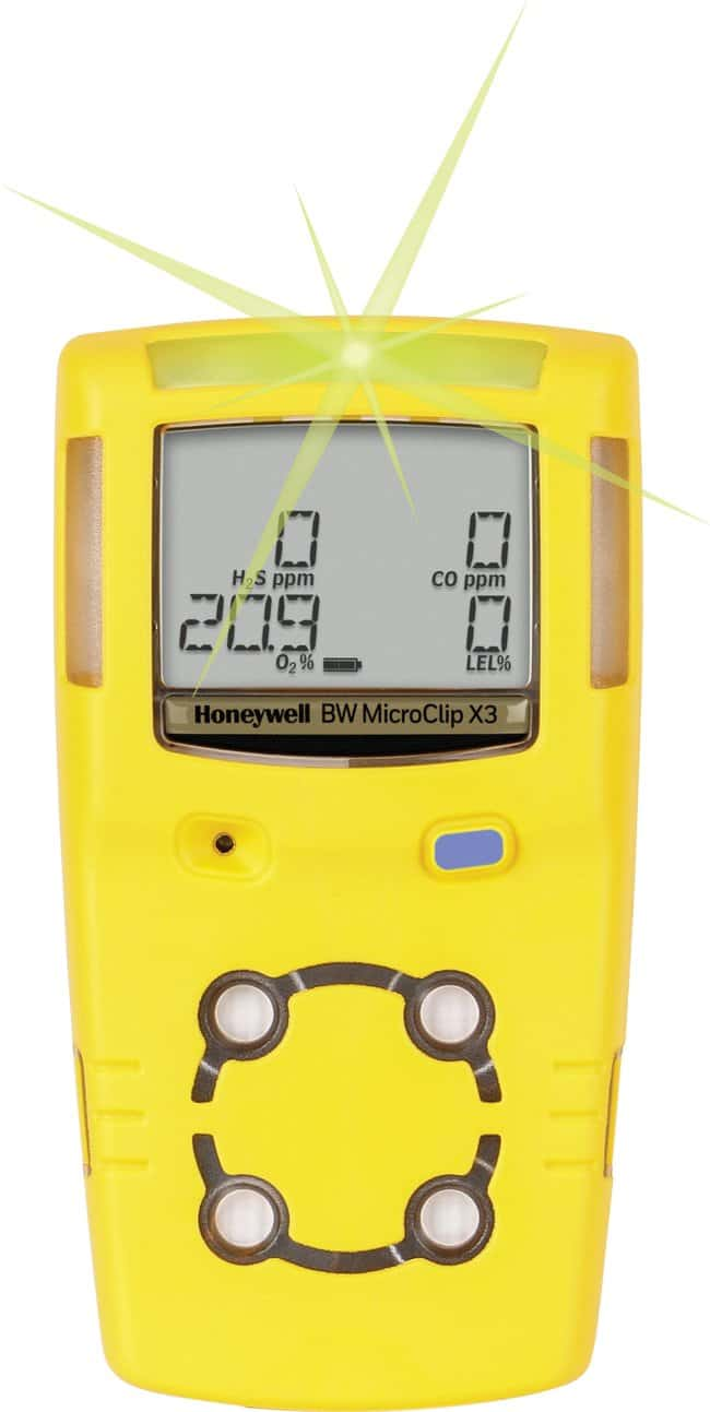Honeywell BW MicroClip X3, %LEL, O2, H2S, CO Multi-gas detector:Gloves,