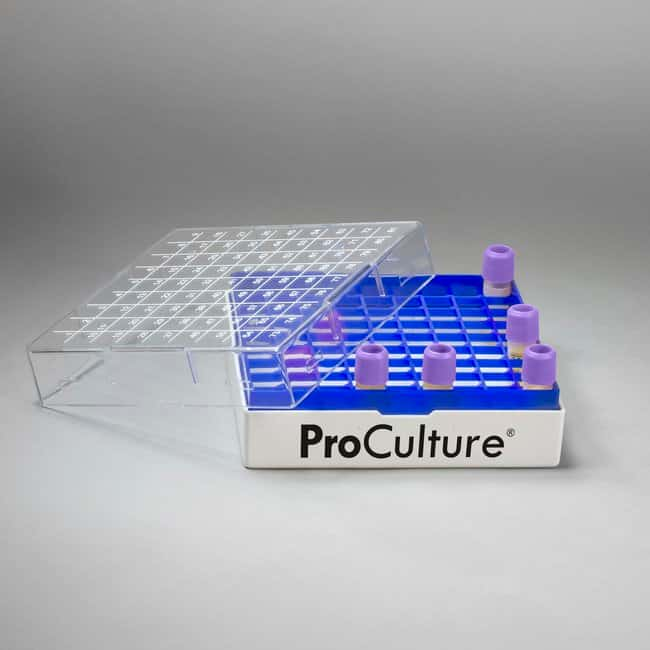 Bel-Art™ProCulture Aufbewahrungsbox für Kryofläschchen 1,2oder 2,0ml-Fläschchen; 81Plätze; 4pro Packung Bel-Art™ProCulture Aufbewahrungsbox für Kryofläschchen