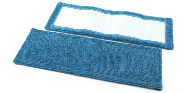 Berkshire Irradiated Microdenier V Mop Cover Color: Blue:Gloves, Glasses