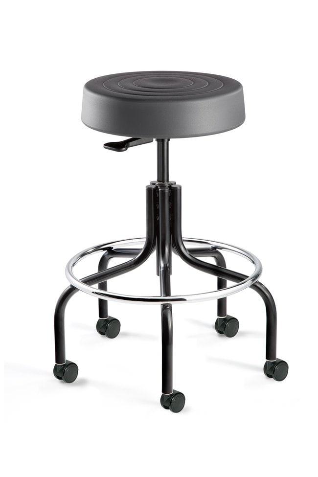 BevcoErgoLux Soft Polyurethane Backless Stool with Hard Floor Casters,