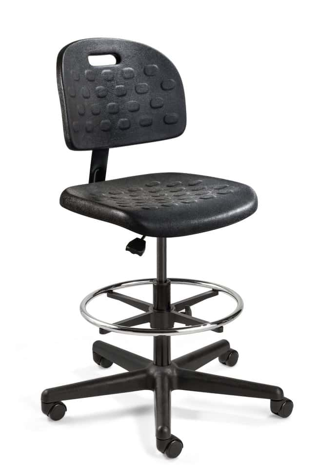 BevcoBreva Black Polyurethane Chair High Bench Height, Yes:Furniture