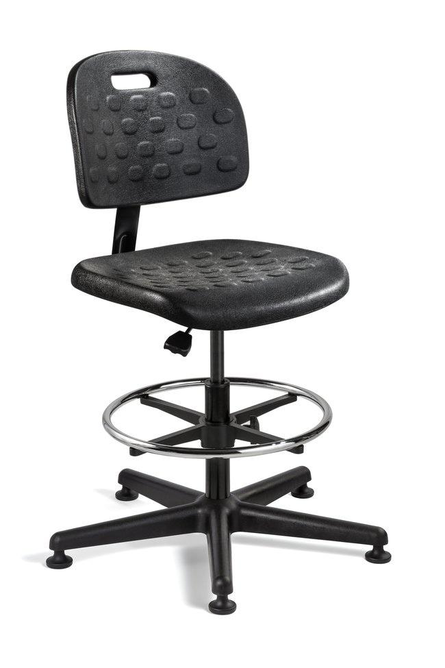 BevcoBreva Black Polyurethane Chair High Bench Height, No:Furniture