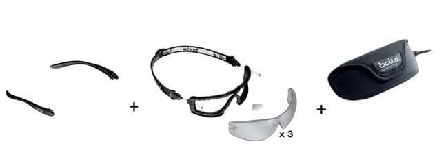 Bollé Safety Cobra Kit Safety Goggles ESP, Smoke, Clear General Purpose Safety Glasses