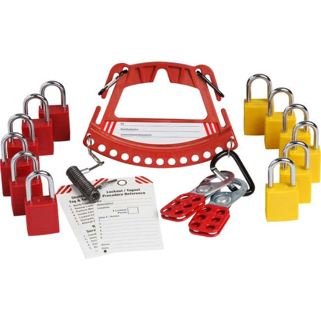 Brady Safety Lock and Tag Carrier With Safety Padlocks Includes 2 sets