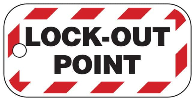 BradyLockout Point Tag Polystyrene Pack of 26:Facility Safety and Maintenance