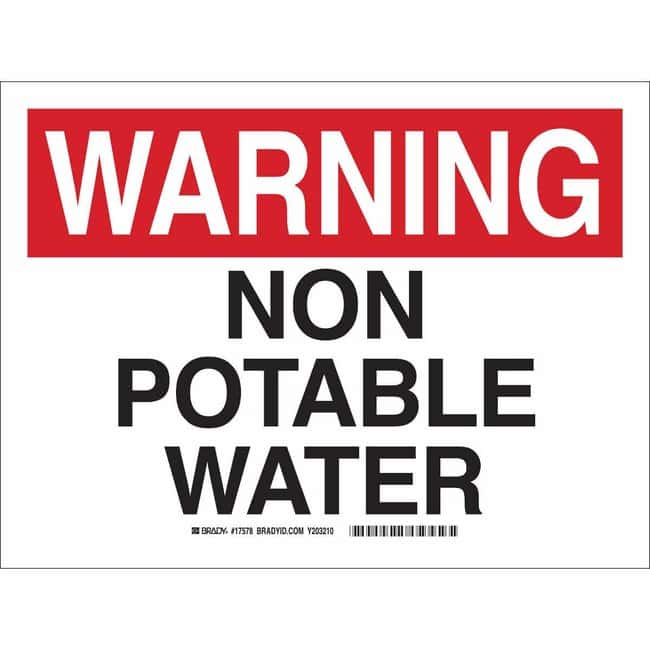 Brady BradyLam Fiberglass with Polyester Laminate Sign: NON-POTABLE WATER